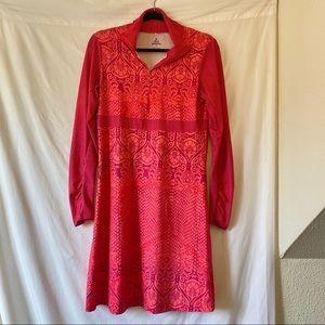 Prana Long Sleeve Printed Dress